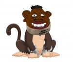 Tyrone the monkey (in chains).jpeg